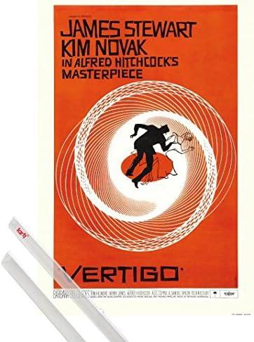 1art1® Póster + Soporte: Vértigo Póster (91x61 cm) Obra Maestra De Alfred Hitchcock, 1958 Y 1 Lote De 2 Varillas Transparentes