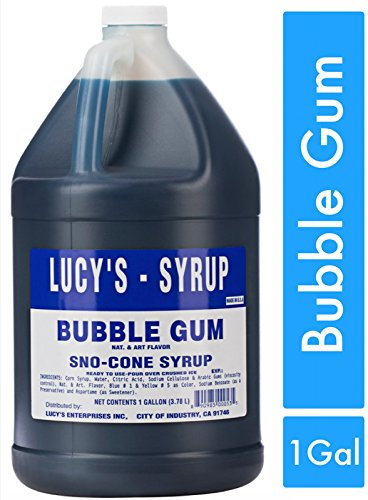 (Lucy's Shaved Ice Snow Cone Syrup - Bubble Gum - 1 Gallon (128oz.))