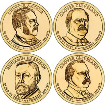 2012 Presidential Dollar 8-coin P&D Set of Uncirculated Coins IN STOCK