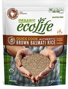 ecoLife Organic Quick Cook Brown Basmati Rice, 2 Pound