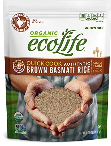 ecoLife Organic Quick Cook Brown Basmati Rice, 2 Pound