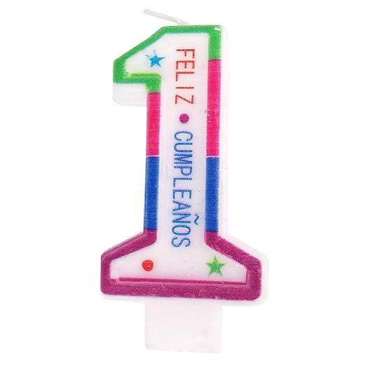 Cotigo- Vela de Cumpleaños de Número 1: Amazon.es: Juguetes ...