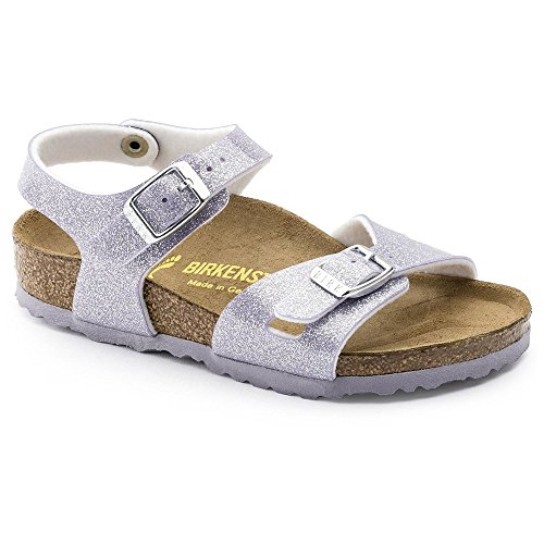 Birkenstock Girls' Rio-K, Magic Galaxy Lavender, 28 EU(10 M US Little (Lavender Leather Footwear)