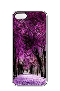 AWU DIYiphone 5/5s case -Autumn leaves purple woods Cherry -Slim Smooth PC Hard Case Cover foriphone 5/5s