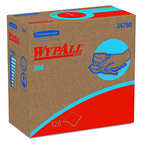 WypAll 34790CT X60 Wipers, POP-UP Box, White, 9 1/8 x 16 7/8, Box of 126 (Case of 10 Boxes) (Professional Wipers Wypall)