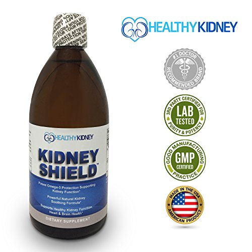 Best Kidney Supplement To Protect & Support Normal Healthy Kidney Function, Creatinine, Kidney Cleanse & Support Kidney Health For Quick Renal Detox Kidney Flush Kidney Shield™ Omega3