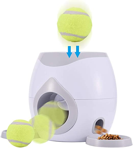 Juguete lanzador de bolas para mascotas, lanzador automático de ...