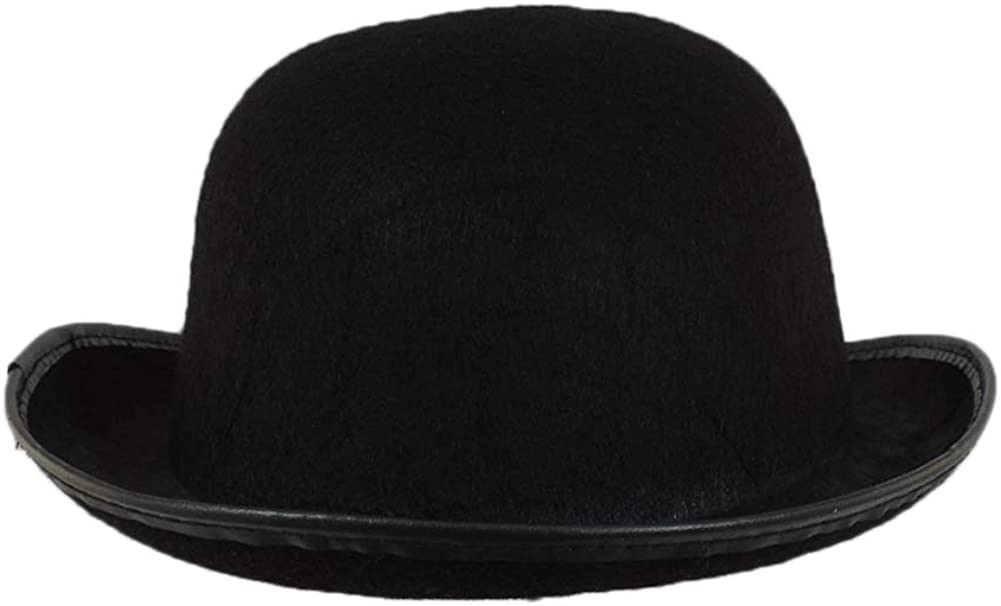 Novelty Giant Black Blended Wool Felt Derby Costume Hat
