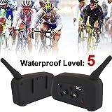 Sedeta 2pc BT Motorcycle Helmet Bluetooth Headset Motorbike Intercom 6 Riders Headset 1200m Cool Gift