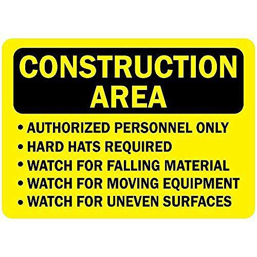 工事現場の承認された人員のみのハード帽子 金属板ブリキ看板注意サイン情報サイン金属安全サイン警告サイン表示パネル