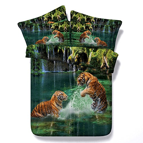 tigers design duvet cover set