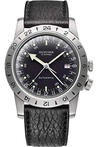 Glycine Airman No. 1 GMT Limited Edition Automatic Black Dial Men's Watch GL0162