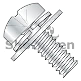 Phillips Pan Split Lock & Regular Flat Washer Sems Full Thread 18 8 Stainless Steel 10-32 x 1/2 (Box of 3000) weight27.1Lbs