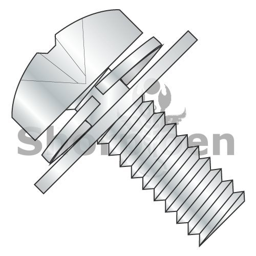 Phillips Pan Split Lock & Regular Flat Washer Sems Full Thread 18 8 Stainless Steel 8-32 x 1/2 (Box of 4000) weight24.93Lbs by Korpek.com
