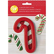 Candy Cane Comfort Grip Cookie Cutter Wilton Christmas Holidays