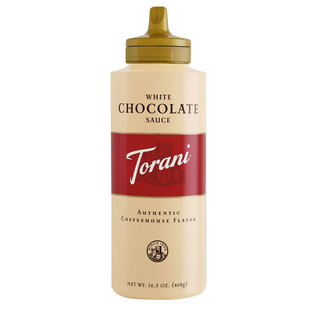 Amazon.com : Torani White Chocolate Sauce, 16.5 Ounce (Pack of 6 ...