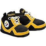 NFL Pittsburgh Steelers 2015 Sneaker Slipper, Small, Black