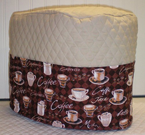 Quilted Coffee Keurig B70 K75 K79 Platinum Plus Brewing System Cover (Tan)
