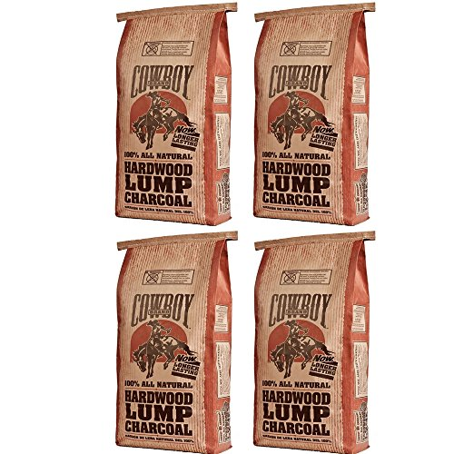 Cowboy 24220 Lump Charcoal, 20-Pound 4 Pack