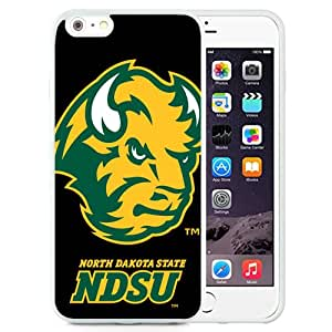 Fashionable And Unique Designed With NCAA Big Sky Conference Football North Dakota 2 Protective Cell Phone Hardshell Cover Case For iPhone 6 Plus 5.5 Inch White