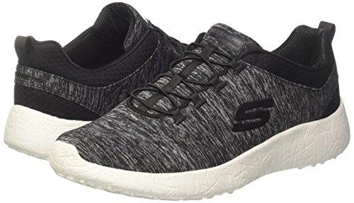 Burst Skechers blk Para Mujer Zapatillas Heat city Negro p7WAr7qv1