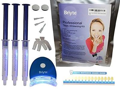 Briyte TM Teeth Whitening Kit System (TEETH WHITENING) Pro Home Whiten Tooth Dental Care White GEL Bleaching Shine Kit Advanced Light Whitener with Briyte Crest Express Delivery 3D tips not strips
