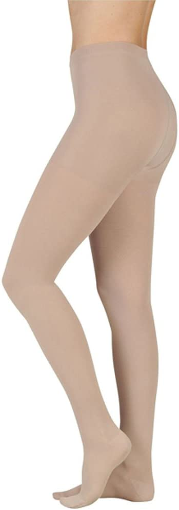20-30 mmHg Juzo Soft Series Compression Stockings. Pantyhose. Closed Toe. Open Crotch. ,Size:V,Color:Beige