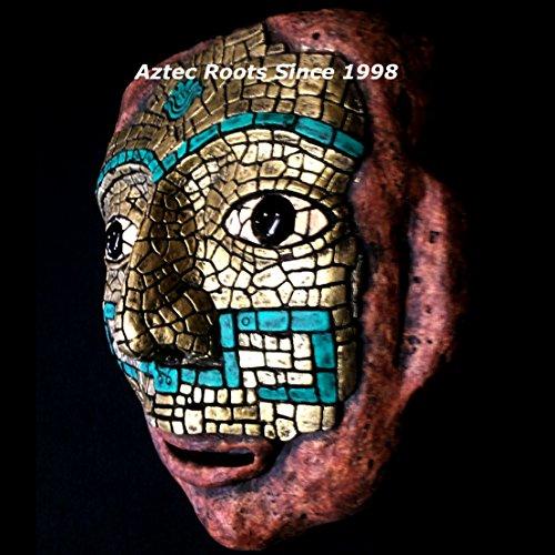Lg. Teotihuacan Mask Aztec Mayan Maya Sculpture Statue Pre-Columbian Ancient Art 067 ()