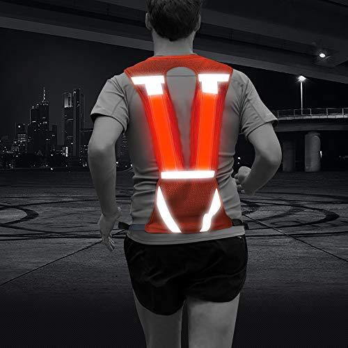 Sports Running Vest- Lightweight Safety High Visibility Reflective Gear For Jogging Cycling Bike Dog Walking(Orange,Vertical)