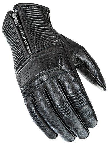 Joe Rocket Men's Café Racer Motorcycle Gloves (Black, Large) ()
