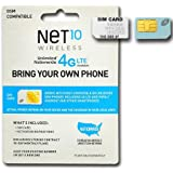 Net 10 Wireless GSM Sim Card activation kit with Works with At&t Network for Lightahead® & other unlocked cellphones.