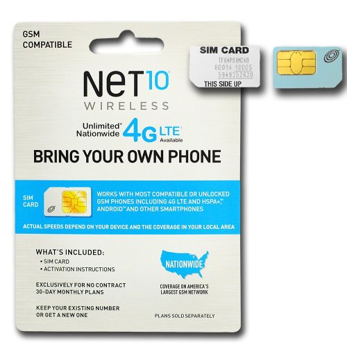 Net 10 Wireless GSM Sim Card activation kit with Works with