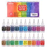 Vanstek Tie Dye DIY Kit, 20 Colors Tie Dye Shirt Fabric Dye for Women, Kids, Men, with Rubber Bands, Gloves, Plastic Film and Table Covers for Family Friends Summer Party Supplies: more info
