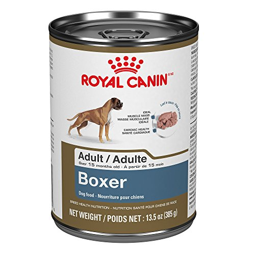 Royal Canin Breed Health Nutrition Boxer Adult Canned Dog Food, 13.5 oz (Pack of 12) (Best Food For Boxer Breed)