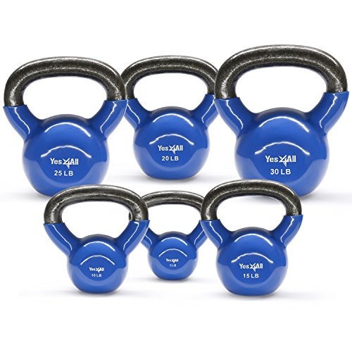 Yes4all Vinyl Coated Kettlebell Set
