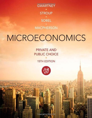 By James D. Gwartney Microeconomics: Private and Public Choice (15th Edition)