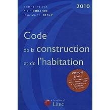 CODE DE LA CONSTRUCTION ET DE L'HABITATION 2010