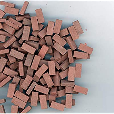 Andi Mini Brick & Stone Dollhouse Miniature Red Blend Brick Blend 325 Count: Toys & Games