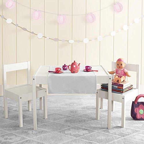 Avenue Greene Dreama White 3-PC Kiddy Table & Chair Set by Avenue Greene