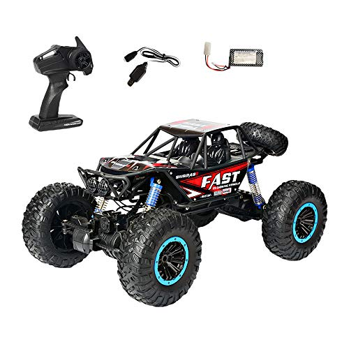Choosebuy❤️ Radio 4D Off-Road RC Car Racing, 1:10 Scale 2.4GHz 30km/h High Speed Climbing Remote Control Vehicle Toys Kids Gift (Red) by Choosebuy (Image #1)