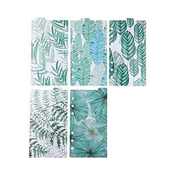 ... pestañas de Chris Wang, Match para estándar A5 tamaño 6-ring carpetas de anillas Planificadores, color Green leaf A5: Amazon.es: Oficina y papelería