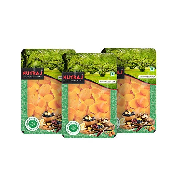 Nutraj Premium Dried Pitted Turkish Apricots 200G (Pack of 3) Tray