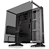 Thermaltake Core P3 ATX Tempered Gaming Computer Case Chassis, Open Frame Panoramic Viewing, Riser Cable Glass Wall-Mount, Black Edition, CA-1G4-00M1WN-06