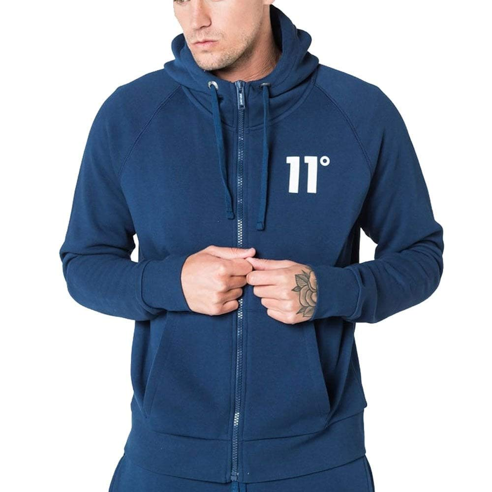 11 Degrees Core Zip Hoodie Navy