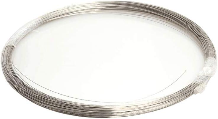 WANGZHENG Alambre de Acero Inoxidable de Metal de Alambre de Acero de la Bobina de Alambre Craft Roll, Arte de DIY procesamiento, Longitud: 1.000 mm,Diameter:0.6mm