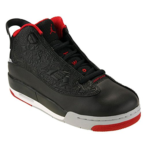 Jordan Air Dub Zero BG, 7 M US Big Kid, Black/Gym Red-Wolf Grey-White by Jordan