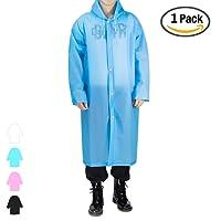 Regenjacken Wiederverwendbar Regenponcho, Umweltfreundliche EVA Regenmantel, Wasserdicht Regenjacke mit Aufbewahrungstasche für Regenschutz - By EnergeticSky™
