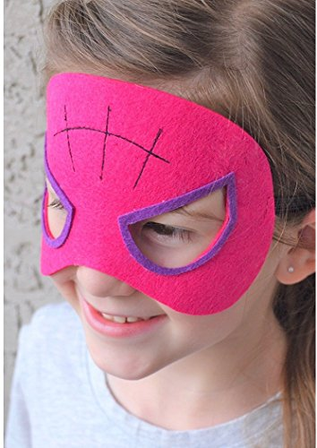 Viki-Liki Superhero Kids Party Masks, 16pcs Party Supply for Children, Kids Birthday Party Accessories, Perfect Costume Felt Mask for Cosplay, Children Parties, Movie Character Mask for Kids Aged 3+