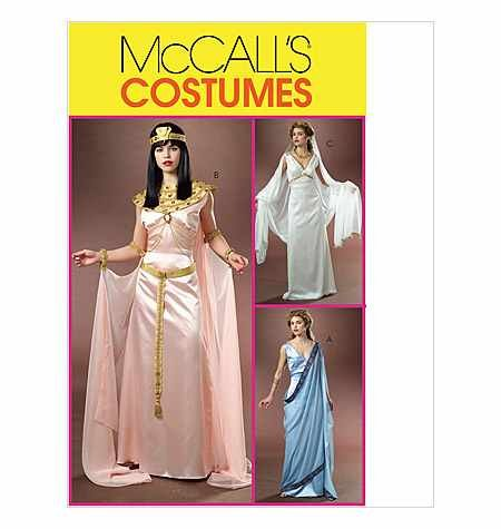 *RARE UNCUT & OOP MCCALL'S M4954 MISSES' COSTUMES - EGYPTIAN, GREEK, PRINCESS/GODDESS STYLE SEWING PATTERN SIZE: AA