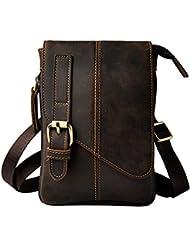 Leaokuu Men Leather Casual Small Sling Messenger Satchel Bag Male Designer Fanny Waist Belt Bag Pack Cigarette...